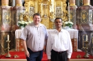Pfarrer Udo Klösel und P. Paul Gnalian