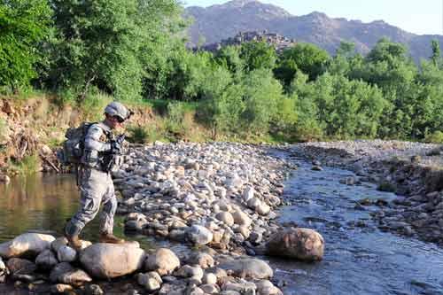 Soldaten der 1-4 Infantrie im Einsatz in Afganistan