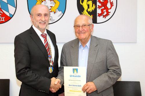 Altbürgermeister Heinrich Boßle