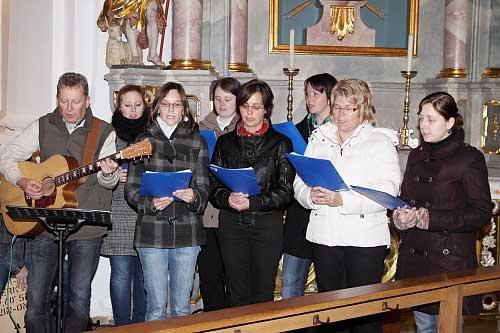 """Der Chor """"Blue heaven"""" aus Pressath ..."""