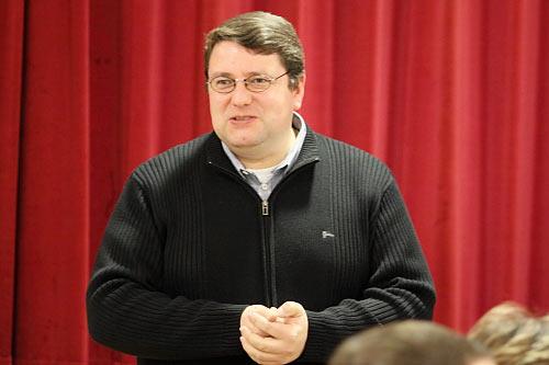 Begrüßung durch Pfarrer Udo Klösel