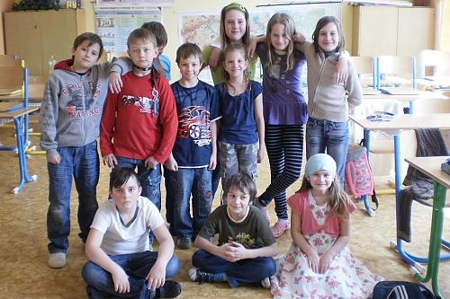 Schulkinder aus Strašice (Foto: A. Kožíšková)