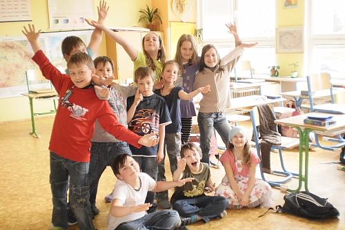 Die Kinder freuen sich auf den Besuch (Foto: A. Kožíšková)