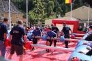 Menschen-Kicker-Meisterschaft beim Bürgerfest